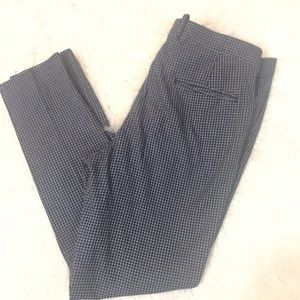 H&M checked Navy dress pants size 36R